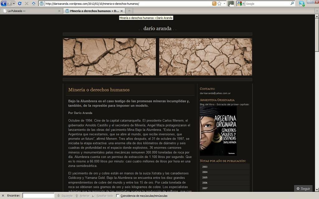Web: Darío Aranda