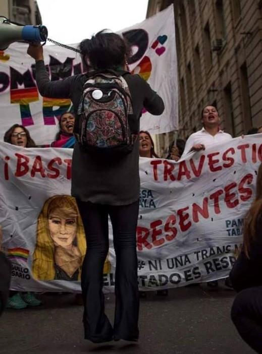 Se realiza la 4ta Marcha Plurinacional Contra los Travesticidios y Transfemicidios